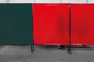 TransEco ochranná zástěna 1450 V, červená 1450 × 1870 mm