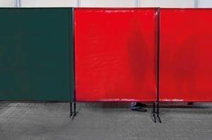 TransEco ochranná zástěna 2050 V, červená 2050 × 1870 mm