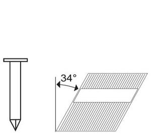 Hřebíky Typ RN Ø 3,33 × 70 mm (2 500 ks)