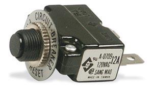 Tepelná pojistka motoru 1-fázová, 10 Amp.