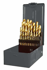 Vrtáky 1 – 13 mm, TiN, 25 ks