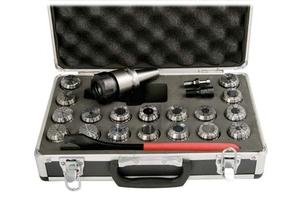Sada upínače ISO40/M16/ER32 a kleštin 2-20 mm (18 ks)