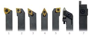 Soustružnické nože HM 8 mm, 7 ks