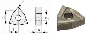 Břitové destičky W/80°, 5 ks