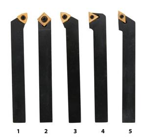 Soustružnické nože HM 12 mm, sada - 5 ks