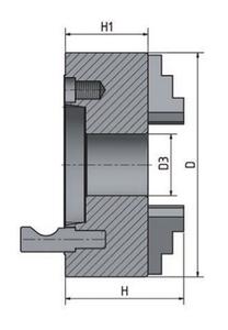 3-čelisťové sklíčidlo s centrickým upínáním ø 160 mm Camlock 4