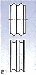 Rolny typ E1 (pro SBM 140-12 a 140-12 E)