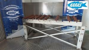 BOMAR robustní válečkový dopravník DxŠxV 2100x800x910mm, použitý, bazar