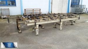 BOMAR robustní válečkový dopravník na těžké materiály délka 4m, použitý, bazar