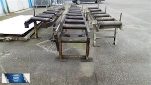 BOMAR robustní válečkový dopravník na těžké materiály délka 5 m s odměřováním, použitý