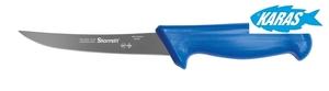 STARRETT značkový vykošťovací nůž - čepel zaoblená/úzká 12,5 cm - modrý