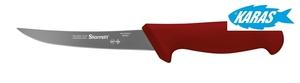 STARRETT značkový vykošťovací nůž - čepel zaoblená/úzká 12,5 cm - červený
