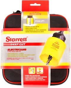 "STARRETT sada vykružovacích korunek DEEP CUT, značková, made in UK - ""Elektrikář"""