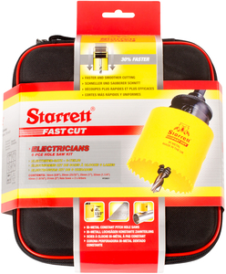 "STARRETT sada vykružovacích korunek FAST CUT, značková, made in UK - ""Elektrikář 1"""