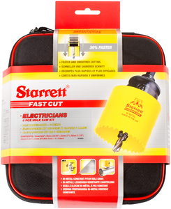 "STARRETT sada vykružovacích korunek FAST CUT, značková, made in UK - ""Elektrikář"""
