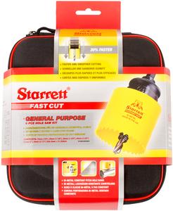 STARRETT sada vykružovacích korunek  FAST CUT, značková, made in UK - všeobecné použití