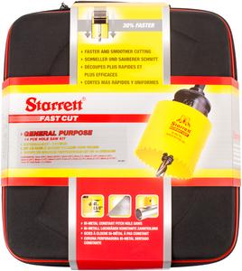 STARRETT sada vykružovacích korunek FAST CUT, značková, made in UK - univerzální sada